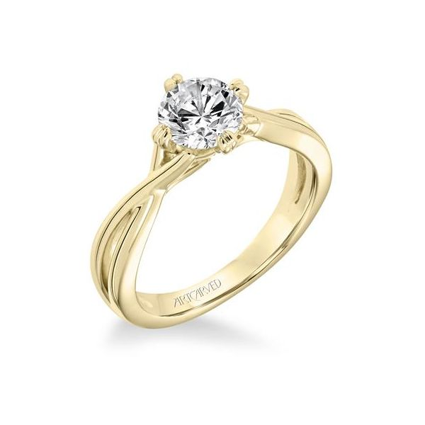 14k YG Split Shank Diamond Engagement Ring The Ring Austin Round Rock, TX