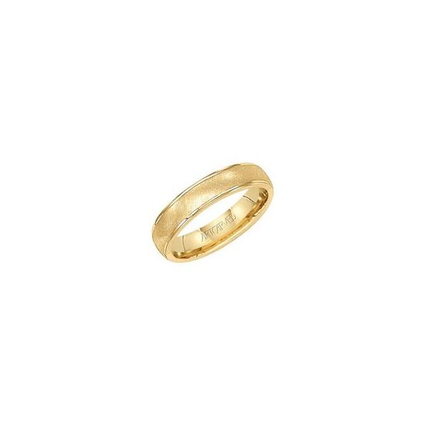 Comfort Fit Silver Wedding Ring with Yellow Plating The Ring Austin Round Rock, TX