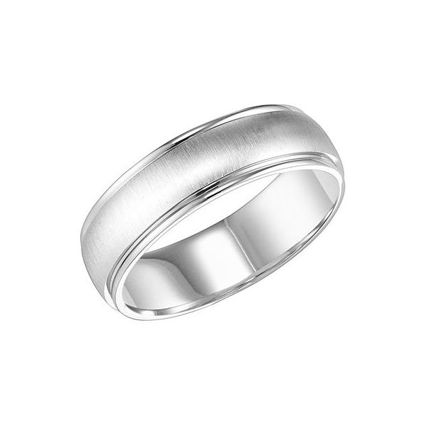 White Gold Brushed Finish Low Dome Band The Ring Austin Round Rock, TX