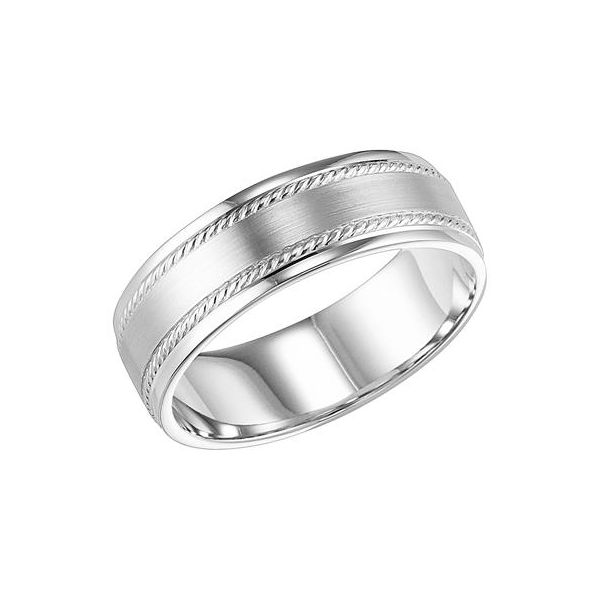 14K White Gold Rope Edge Design Band The Ring Austin Round Rock, TX