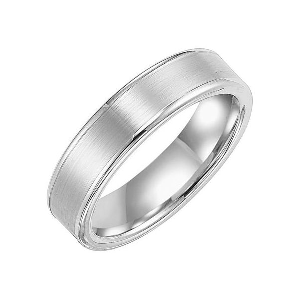 6mm Flat Tungsten Band with Satin Finish The Ring Austin Round Rock, TX