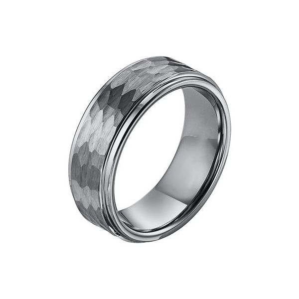 8mm Tungsten Band with Hammered Finish The Ring Austin Round Rock, TX
