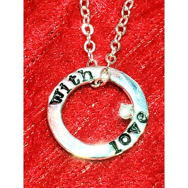 Sterling Silver Circle necklace Engrave