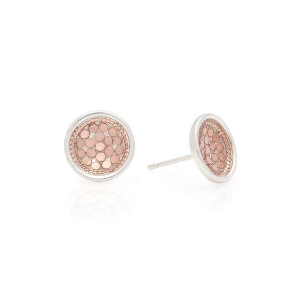 Rose Gold Plated Silver Dish Stud Earrings The Ring Austin Round Rock, TX
