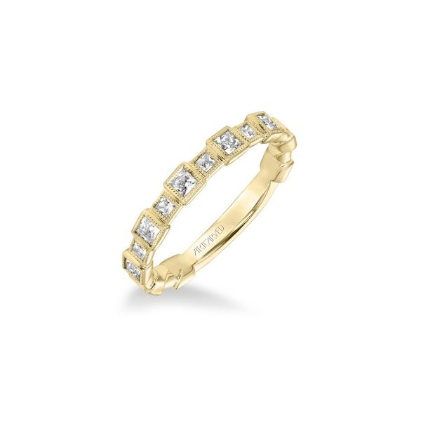 YG Princess Cut Bezel Stackable Ring The Ring Austin Round Rock, TX