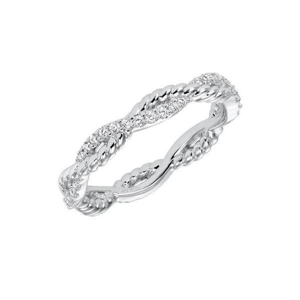 14K White Gold Twisted Rope Stackable Ring The Ring Austin Round Rock, TX