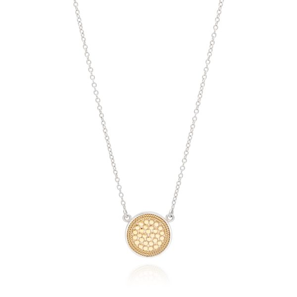 Gold/Silver Plated Disc Necklace 16-18