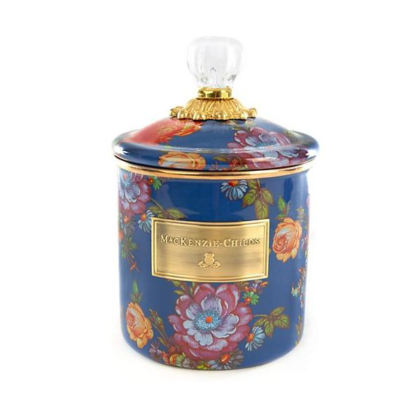 Mackenzie Childs Canister - Flower Market Small Canister The Yellow Door Brooklyn, NY
