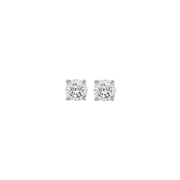 DIAMOND EARRINGS SOLITAIRE/GOLD/PLATINUM Valentine's Fine Jewelry Dallas, PA