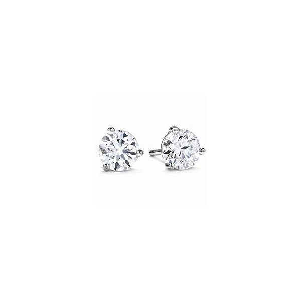 Hearts on Fire  DIAMOND EARRINGS SOLITAIRE/GOLD/PLATINUM Valentine's Fine Jewelry Dallas, PA