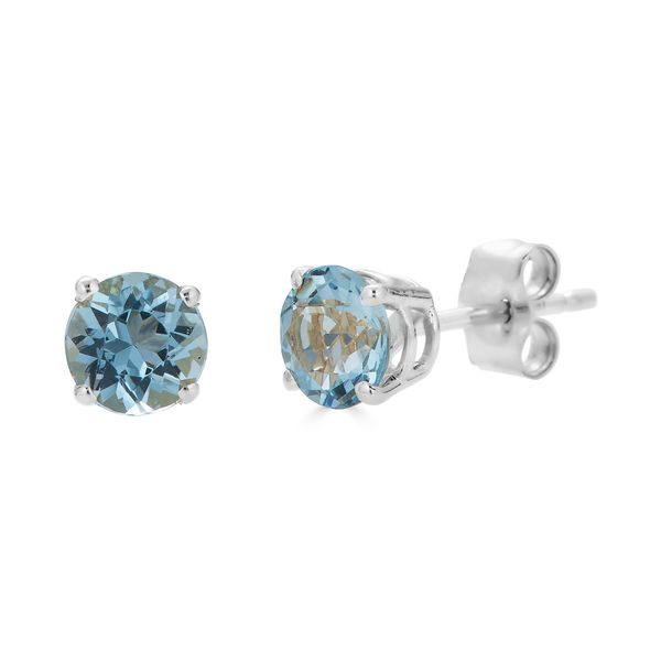 KARAT GOLD/PLATINUM GEMSTONE EARRINGS Valentine's Fine Jewelry Dallas, PA