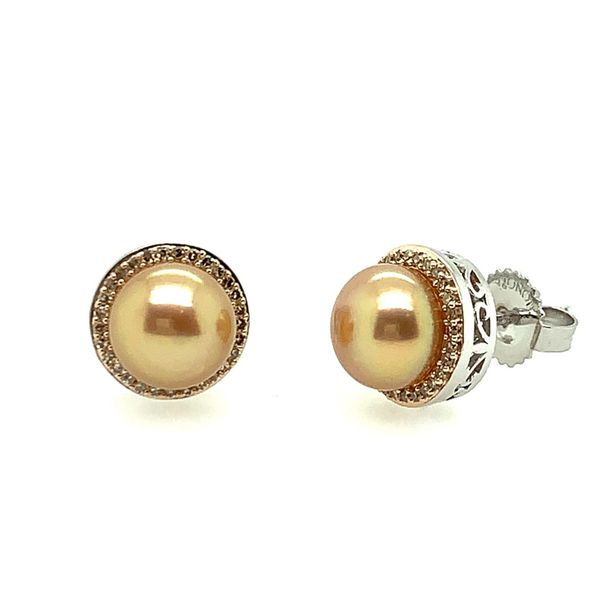 PEARL EARRINGS/SILVER/SILVER&GOLDCOMBO Valentine's Fine Jewelry Dallas, PA