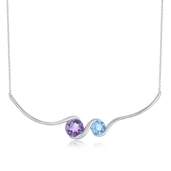 GEMSTONE PENDANTS/NECK;LACES /STERLING SILVER/SS/GOLD COMBO Valentine's Fine Jewelry Dallas, PA