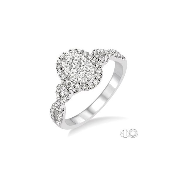 Pre-set Engagement Ring with a Cluster Center Van Adams Jewelers Snellville, GA