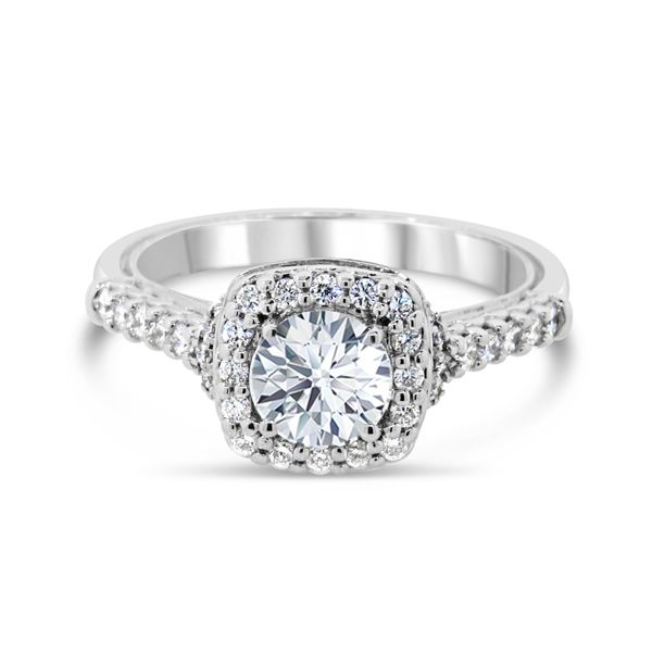 14K White Gold Diamond Engagement Ring Van Adams Jewelers Snellville, GA