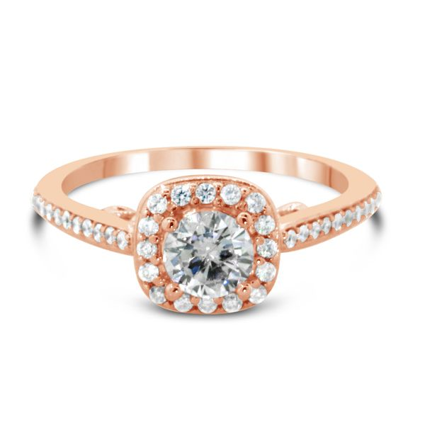 14K Rose Gold Diamond Engagement Ring Van Adams Jewelers Snellville, GA