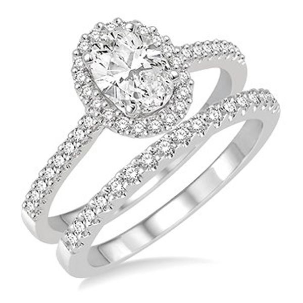 14K White Gold Diamond Wedding Set Van Adams Jewelers Snellville, GA
