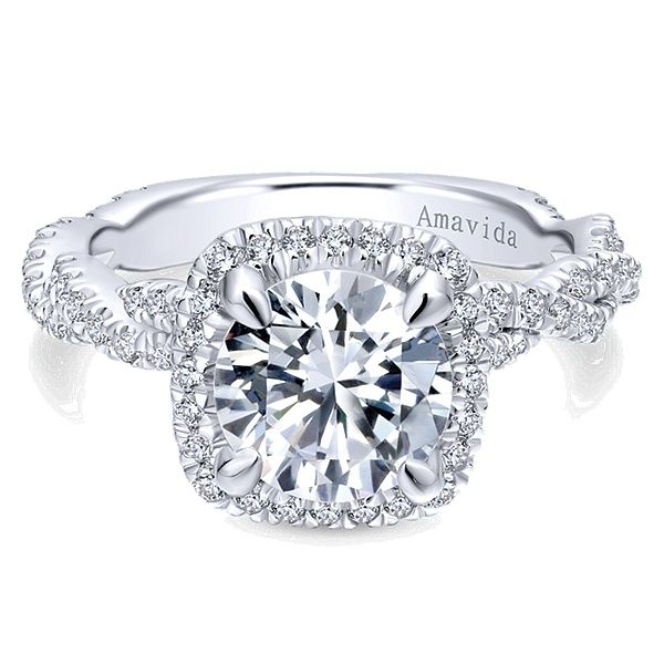 18K Diamond Semi-Mount Engagement Ring Van Adams Jewelers Snellville, GA