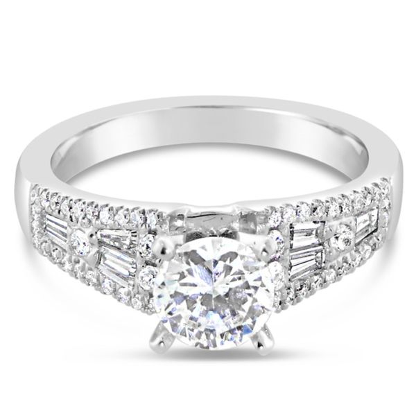 18K White Gold Diamond Semi-Mount Van Adams Jewelers Snellville, GA