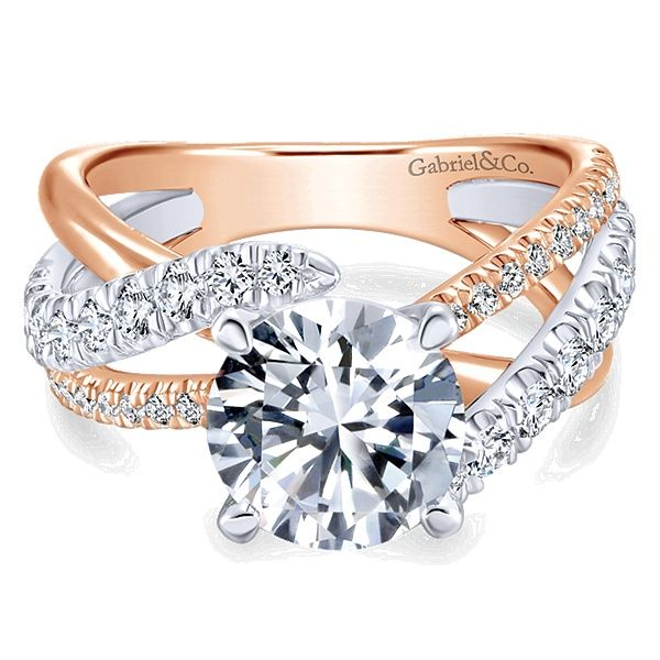 Gabriel & Co. 14K Two-Toned Gold Diamond Semi-Mount Van Adams Jewelers Snellville, GA