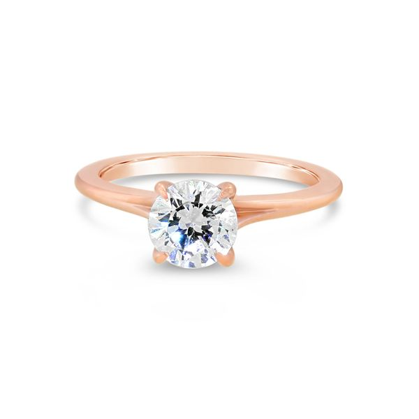 14K Rose Gold Diamond Semi-Mount Van Adams Jewelers Snellville, GA
