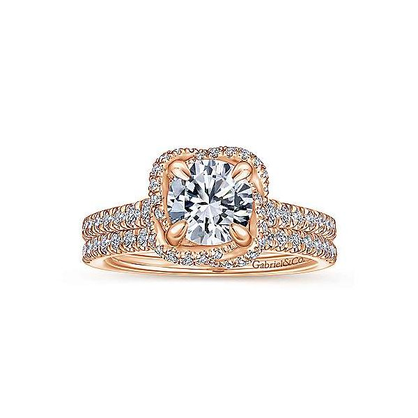 Gabriel & Co. 14K Rose Gold Diamond Semi-Mount Van Adams Jewelers Snellville, GA