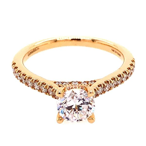 Gabriel & Co. 14K Yellow Gold Diamond Semi-Mount Van Adams Jewelers Snellville, GA
