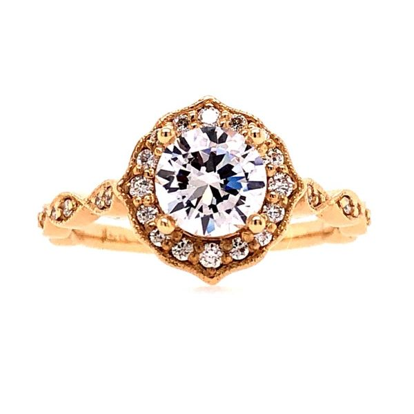 Van Adam's Collection 14K Yellow Gold Diamond Semi-Mount Van Adams Jewelers Snellville, GA