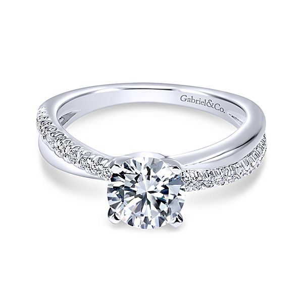Gabriel & Co. 14K White Gold Diamond Semi-Mount Van Adams Jewelers Snellville, GA
