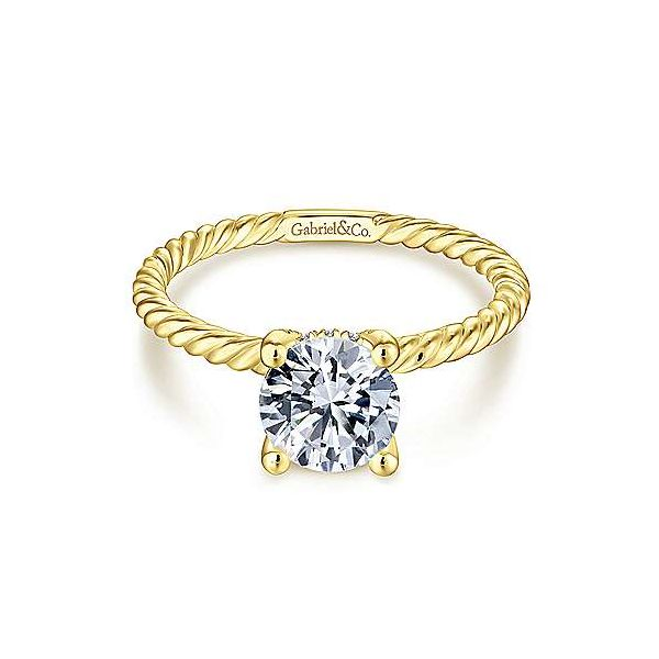 14K Yellow Gold Round Diamond Engagement Ring Van Adams Jewelers Snellville, GA