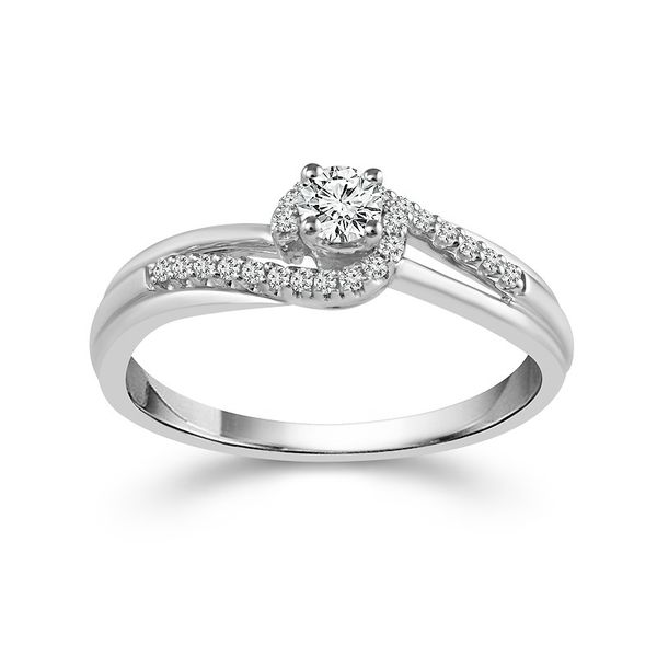 Sterling Silver Diamond Promise Ring Van Adams Jewelers Snellville, GA