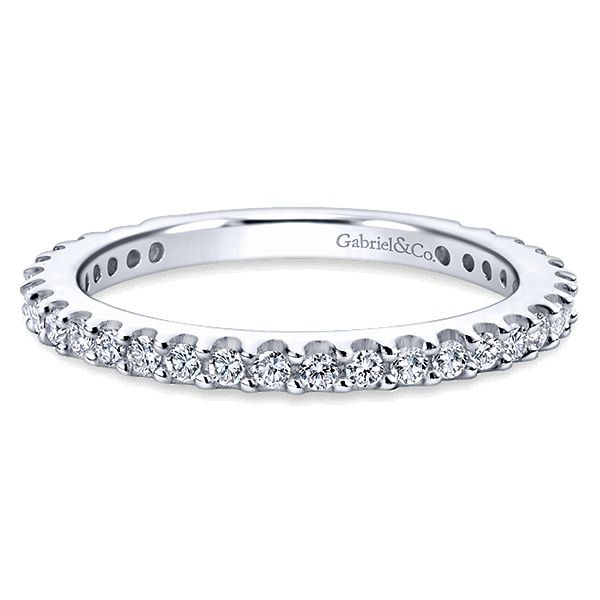 Gabriel & Co. 14K White Gold Diamond Wedding Band Van Adams Jewelers Snellville, GA