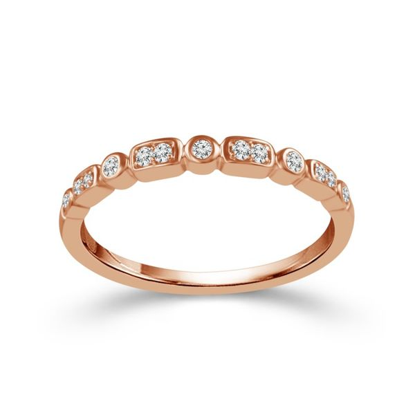 10K Rose Gold Diamond Wedding Band Van Adams Jewelers Snellville, GA