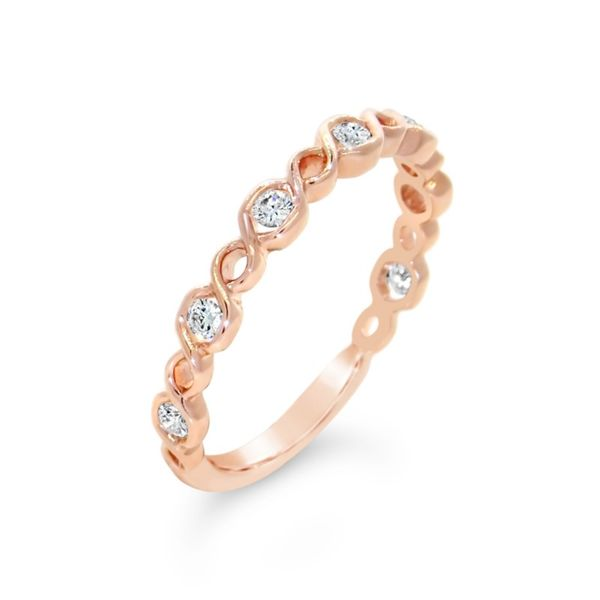 14K Rose Gold Diamond Wedding Band Van Adams Jewelers Snellville, GA