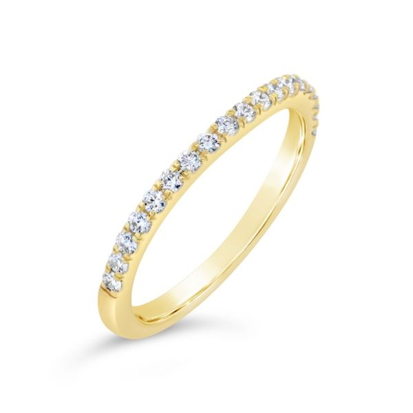 14K Yellow Gold Diamond Wedding Band Van Adams Jewelers Snellville, GA