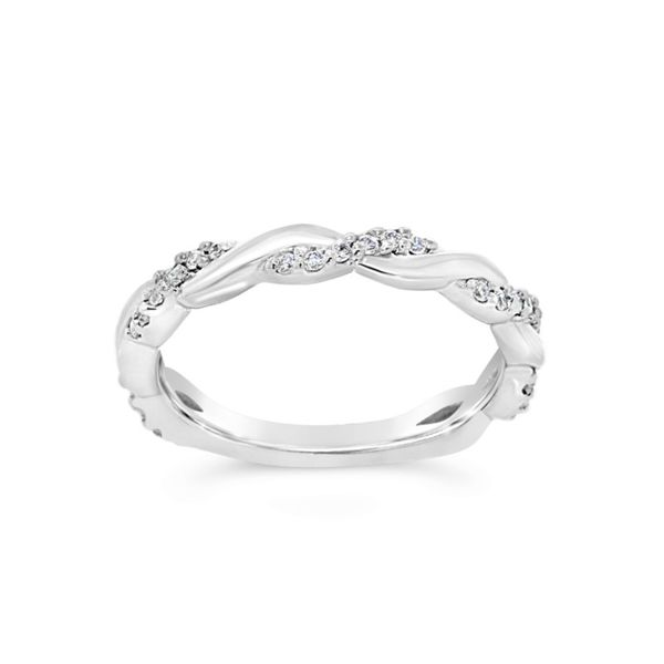Van Adam's Collection 14K White Gold Diamond Twisted Band Van Adams Jewelers Snellville, GA