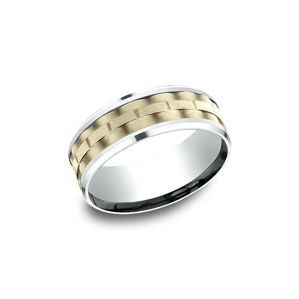 Men's 14K Two-Toned Gold Wedding Band Van Adams Jewelers Snellville, GA