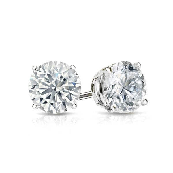14K Diamond Stud Earrings Van Adams Jewelers Snellville, GA
