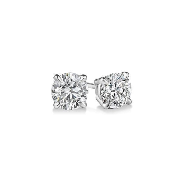 14K White Gold Diamond Stud Earrings Van Adams Jewelers Snellville, GA