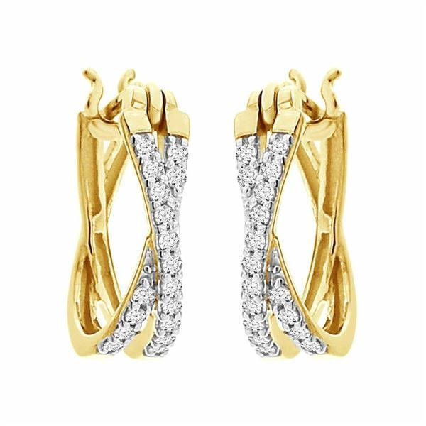 Diamond Hoop Earrings Van Adams Jewelers Snellville, GA