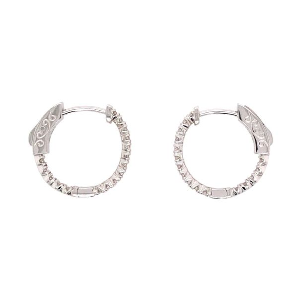 14K White Gold DIamond Hoop Earrings Van Adams Jewelers Snellville, GA