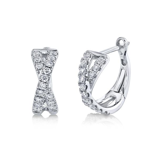 Diamond Crossover Huggie Earrings Van Adams Jewelers Snellville, GA