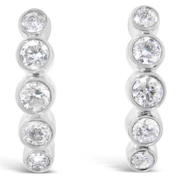 10K White Gold Diamond Earrings Van Adams Jewelers Snellville, GA