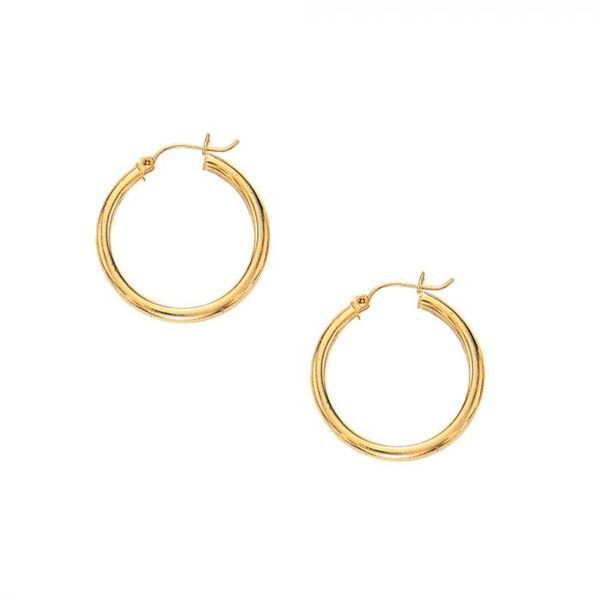 10K Yellow Gold Hoop Earrings Van Adams Jewelers Snellville, GA