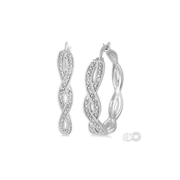 Ashi Diamond earrings in silver Van Adams Jewelers Snellville, GA