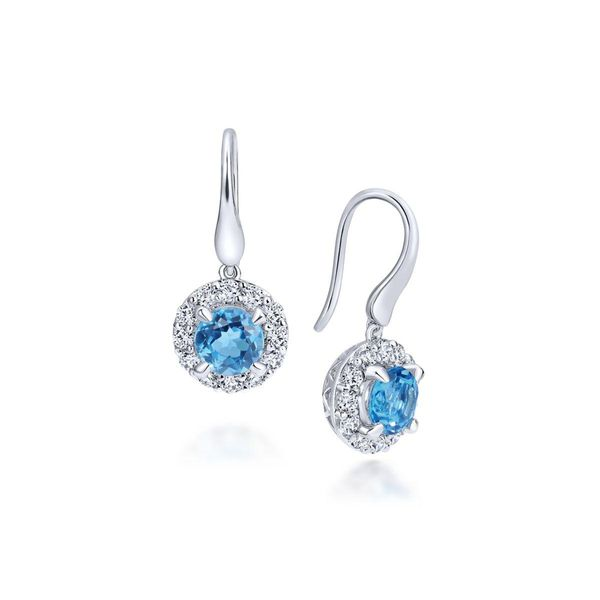 Gabriel & Co Colored Gemstone Earrings Van Adams Jewelers Snellville, GA