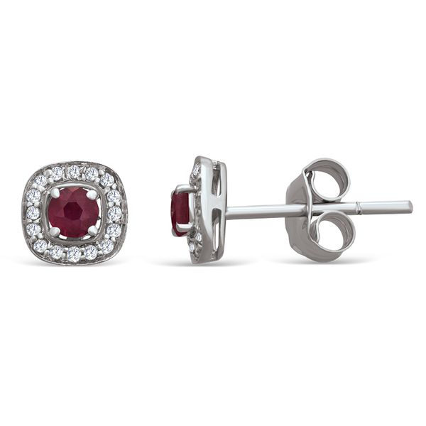 Ruby and Diamond Earrings Van Adams Jewelers Snellville, GA