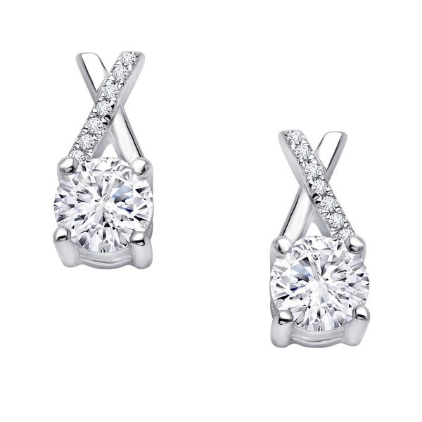Lafonn Jewelry Silver Earrings with Simulated Stones Van Adams Jewelers Snellville, GA