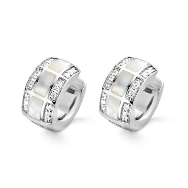 Silver Earrings with Simulated Stones Van Adams Jewelers Snellville, GA