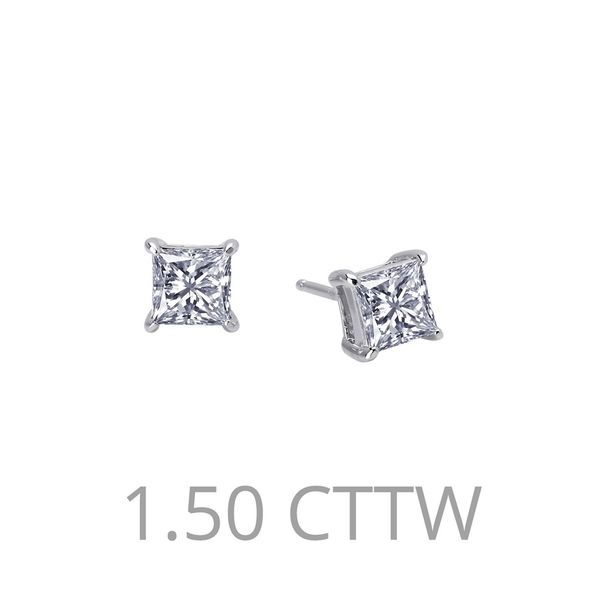 1.5 ct tw Lafonn Princess Cut Stud Earrings Van Adams Jewelers Snellville, GA